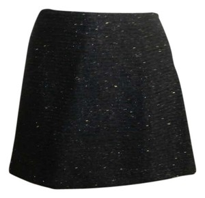 Zara Shimmer Mini Skirt Blue