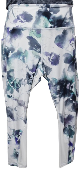 Item - White & Purple XL Floral Activewear Bottoms Size 16 (XL, Plus 0x)