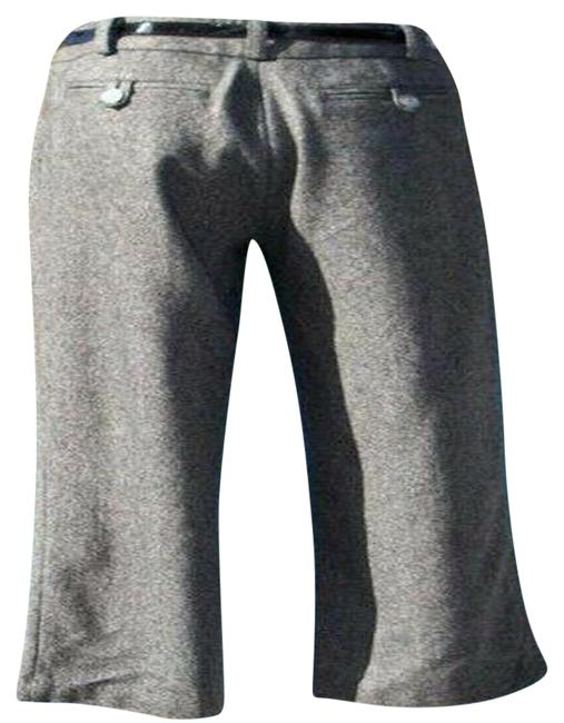 Item - Black White Gray Crop Wool Blend Removable Belt New 2/4/6 S Tweed Pants Size 4 (S, 27)