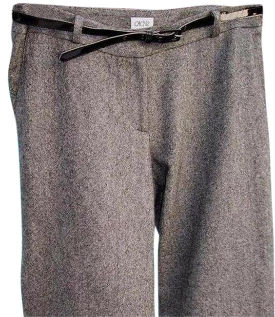Item - Black White Gray Crop Wool Blend Removable Belt New 4/6/8 S/M Tweed Pants Size 6 (S, 28)