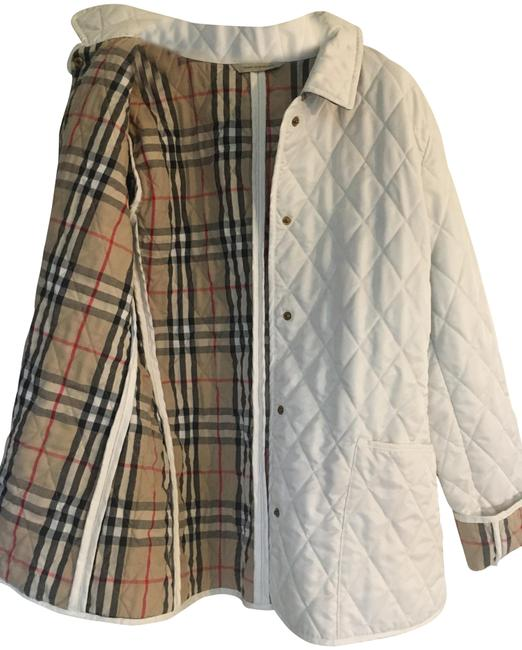 Item - White London Classic Quilted Coat Jacket Size 8 (M)