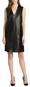 Vince short dress Black /Leather on Tradesy