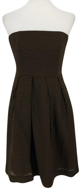 Item - Brown Strapless Mid-length Cocktail Dress Size 8 (M)