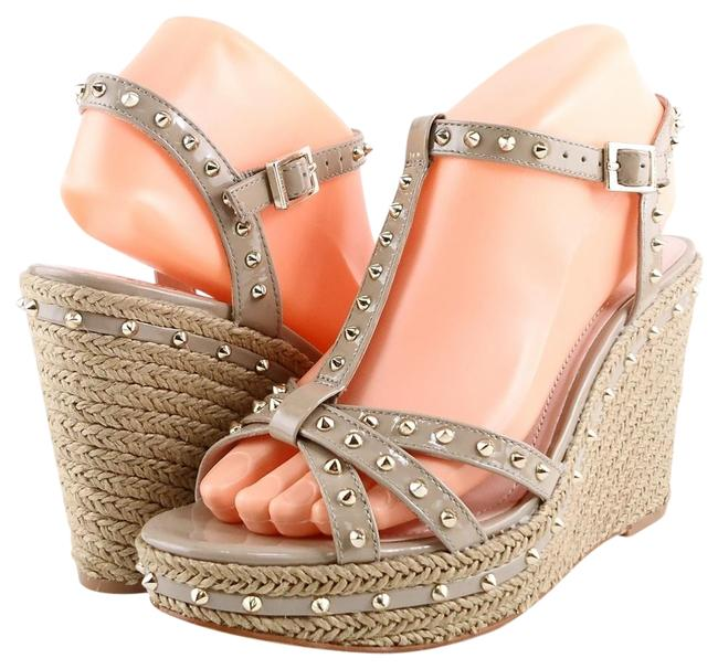 Item - Castle Stone Tamblyn Patent Spiked Espadrille Wedges Sandals Size US 10 Regular (M, B)