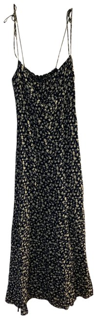 Item - Navy Floral Long Casual Maxi Dress Size 2 (XS)