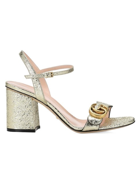 Item - Gold Marmont Mf Gg Ankle-strap Mid Sandals Size EU 35 (Approx. US 5) Regular (M, B)