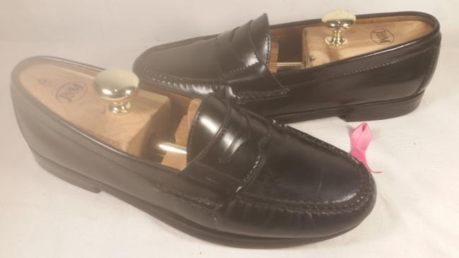 Item - Black Men's Leather Dress Casual Penny Loafer 8.5m Shoes