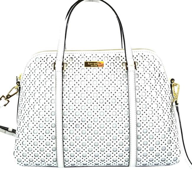 Item - Flash-sale Small Rachelle Caning Wkru3659 Bright Satchel White Leather Cross Body Bag