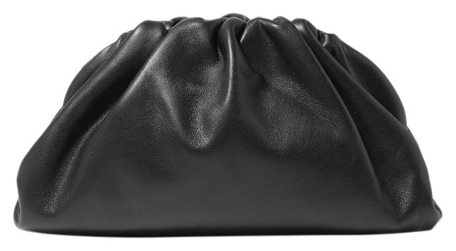 Item - The Pouch Small Gathered Black Leather Clutch