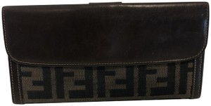 Fendi Fendi brown leather wallet