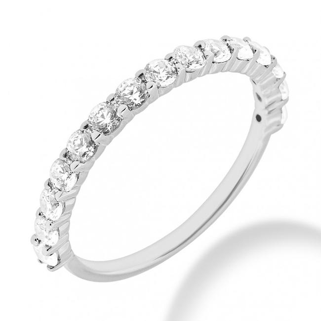 Item - White 1.05 Ct. Ladies Round In Shared Prong Women's Wedding Band