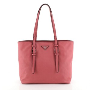 Prada Leather Tote in pink