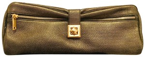 Lodis black and gold Clutch