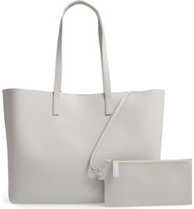 Saint Laurent East West Shopping Tote in Grey