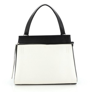 Céline Leather Tote in Black, White