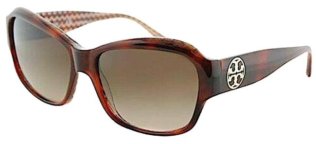 Tory Burch Ty7108 165813 56-16-135 Tort/Orange Zigzag Ac Sunglasses Tory Burch Ty7108 165813 56-16-135 Tort/Orange Zigzag Ac Sunglasses Image 1