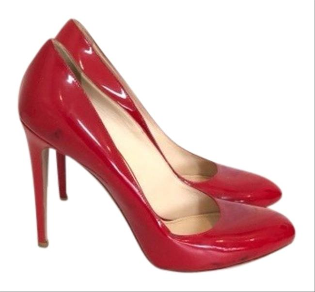 Item - Red Vernice Round Toe Pumps Size EU 38.5 (Approx. US 8.5) Regular (M, B)