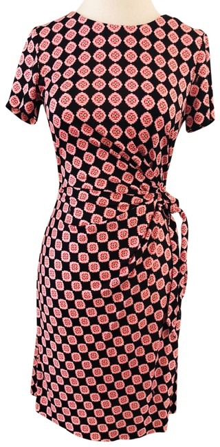 Item - Black and Pink Zoe Vintage Tie Small Short Casual Dress Size 4 (S)