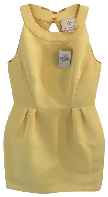 Item - Yellow Njmu6309 Short Cocktail Dress Size 4 (S)