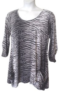 Isabella Rodriguez Tiger Stretch Knit Plus-size Tunic