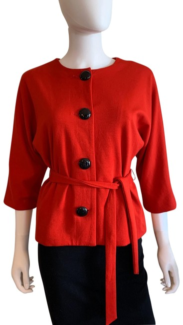 Item - Red Belted Jacket Size 6 (S)