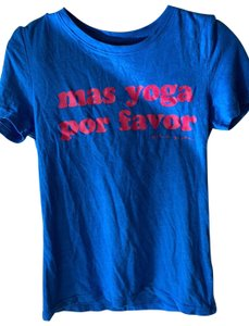 Spiritual Gangster T Shirt blue shirt with pink letters