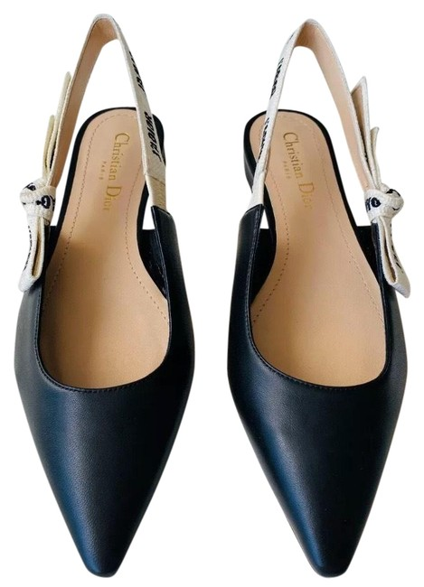 Item - Black Leather Slingback Flats Size EU 38 (Approx. US 8) Regular (M, B)