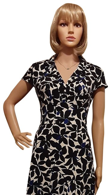 Item - Black and White Classic Mid-length Work/Office Dress Size 2 (XS)