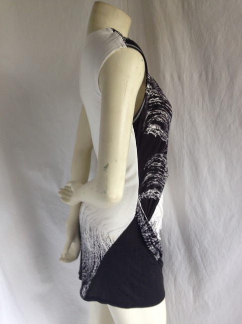Karen Millen And Texture Print Printed Tunic Tunic Going Mini Jersey Viscose Hair Feather Ombre Party Fun Retro Chic Sexy Dress