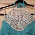 Lilly Pulitzer Turquoise Brighton Lace Halter Mid-length Short Casual Dress Size 6 (S) Lilly Pulitzer Turquoise Brighton Lace Halter Mid-length Short Casual Dress Size 6 (S) Image 5