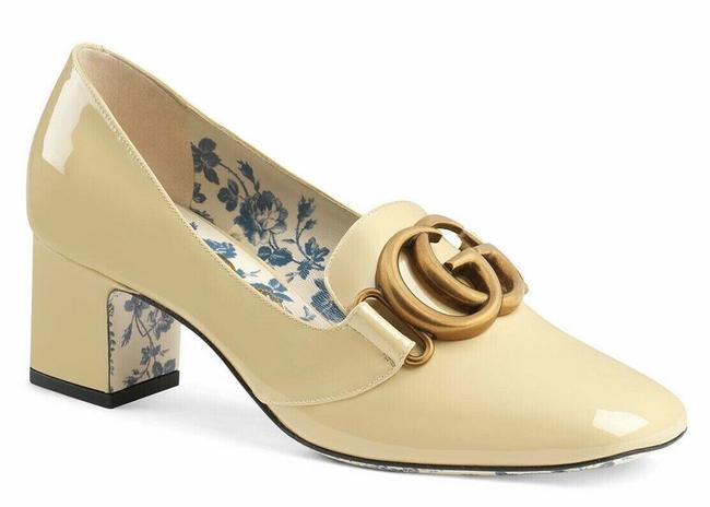 Item - Beige Victoire Sand Storm Patent Leather Block Mid Heel Mule Loafer Pumps Size EU 39 (Approx. US 9) Regular (M, B)