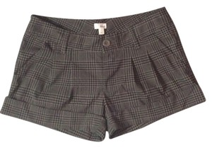 Frenchi Cuffed Shorts Brown Black