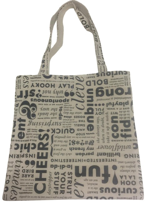 Item - What Do You Say Book Beige Cotton Tote