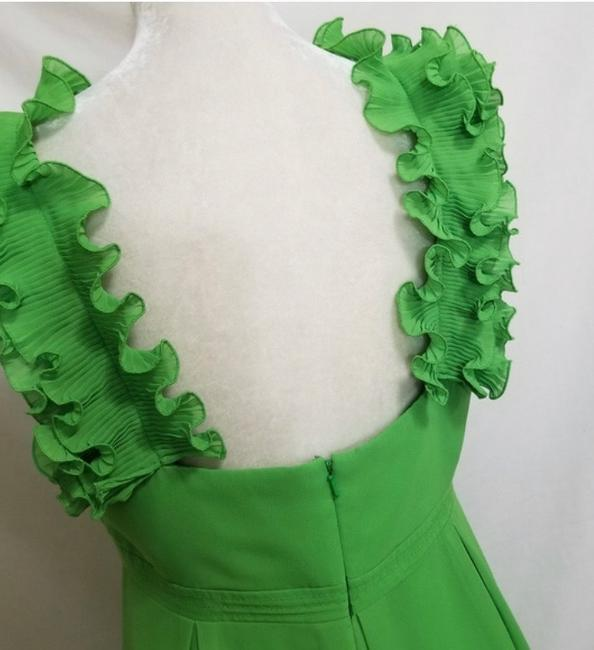 Lilly Pulitzer Green Amber Ruffle Mid-length Cocktail Dress Size 6 (S) Lilly Pulitzer Green Amber Ruffle Mid-length Cocktail Dress Size 6 (S) Image 3