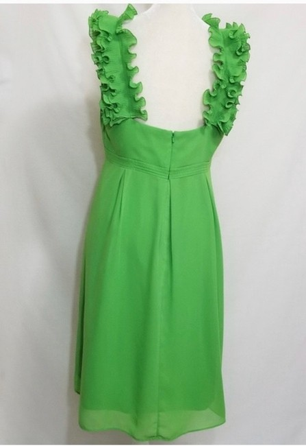 Lilly Pulitzer Green Amber Ruffle Mid-length Cocktail Dress Size 6 (S) Lilly Pulitzer Green Amber Ruffle Mid-length Cocktail Dress Size 6 (S) Image 4