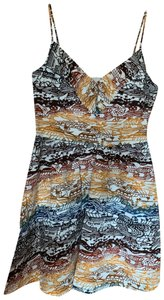 Quiksilver short dress white with multi color print on Tradesy