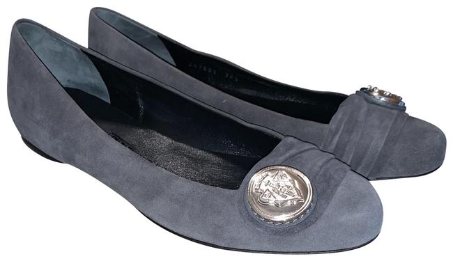 Item - Grey Suede Crest Ornament Flats Size EU 36.5 (Approx. US 6.5) Regular (M, B)