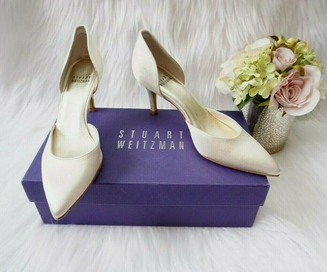 Item - Ivory Twice Platinum Raso Women's Dressy Evening Pumps Size US 6 Narrow (Aa, N)