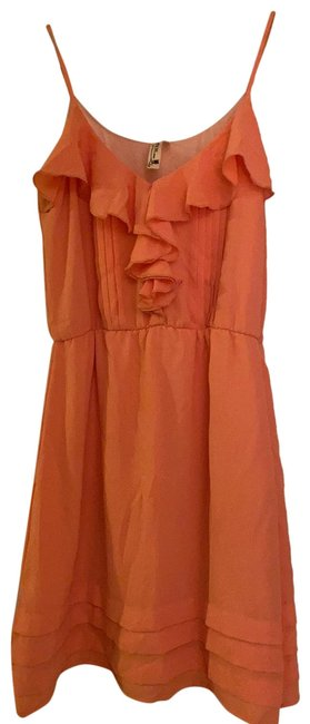 Item - Salmon Sleeveless Mid-length Night Out Dress Size 4 (S)