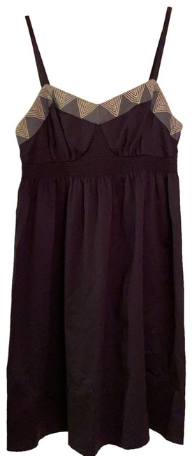 Item - Navy Silk Mid-length Night Out Dress Size 4 (S)