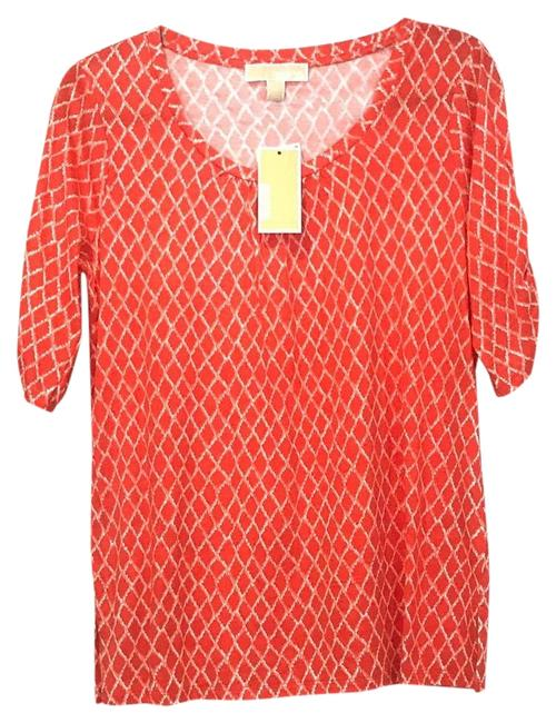 Item - Red Womens Pattered M Tee Shirt Size 8 (M)