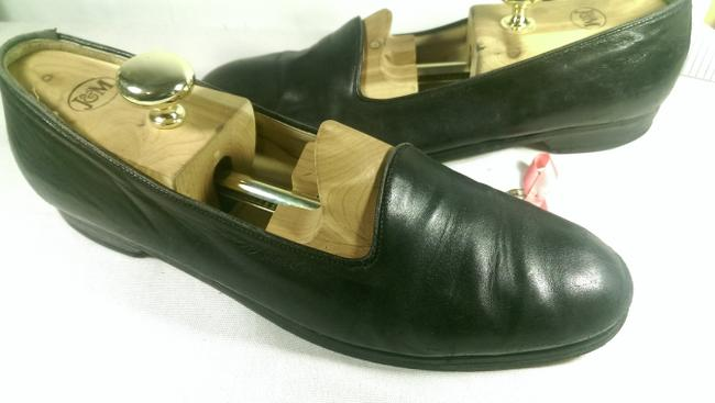 Item - Black Bragano Italy Men's Leather Dress Casual Loafer 11.5m Shoes