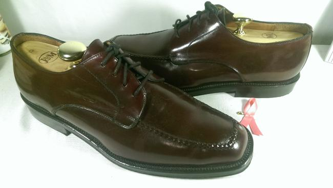 Item - Brown W/Black Accents Men's Sq. Toe Lace-up Dress Casual Oxford 10.5m Shoes