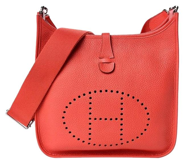 Item - Evelyne Taurillon Clemence Iii Pm Red Leather Messenger Bag