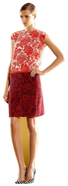 Item - Multi-color New Runway Silk Floral T-shirt 40 284037 Short Casual Dress Size 4 (S)