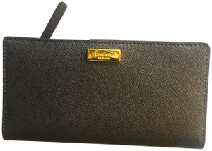 Kate Spade NWT Kate Spade Laurel Way Stacy Saffiano Leather Wallet BLACK