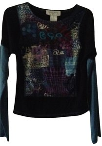 Rene Derhy T Shirt black & blue Multi