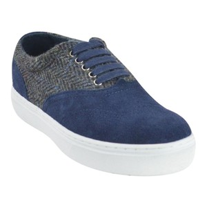 F-Troupe Sneakers Suede Lace Up Navy Athletic