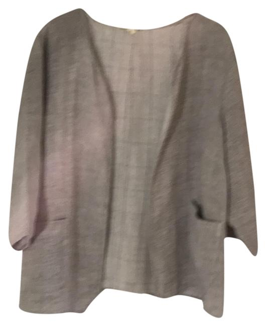 Item - Heathered Grey Linen Lightweight Jacket Blazer Size 26 (Plus 3x)