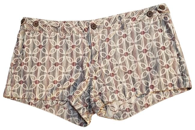Item - Red White Gray / Lux Floral Shorts Size 6 (S, 28)
